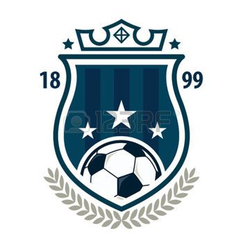 Football badge logo template design,soccer team,vector illuatration photo