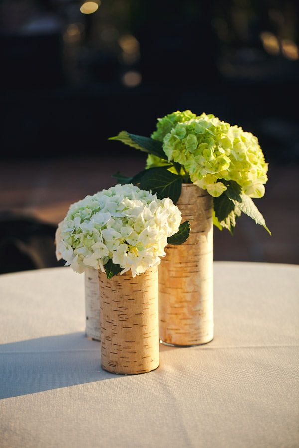 Hydrangea Center Pieces - Could mix with different kinds of flowers.