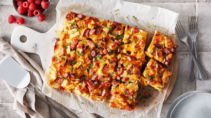 Apple, Cheddar and Ham Breakfast Strata | Recipe | The Fresh Market - Ingredients and step-by-step recipe for Apple, Cheddar and Ham Breakfast Strata. Find more gourmet recipes and meal ideas at The Fresh Market today!