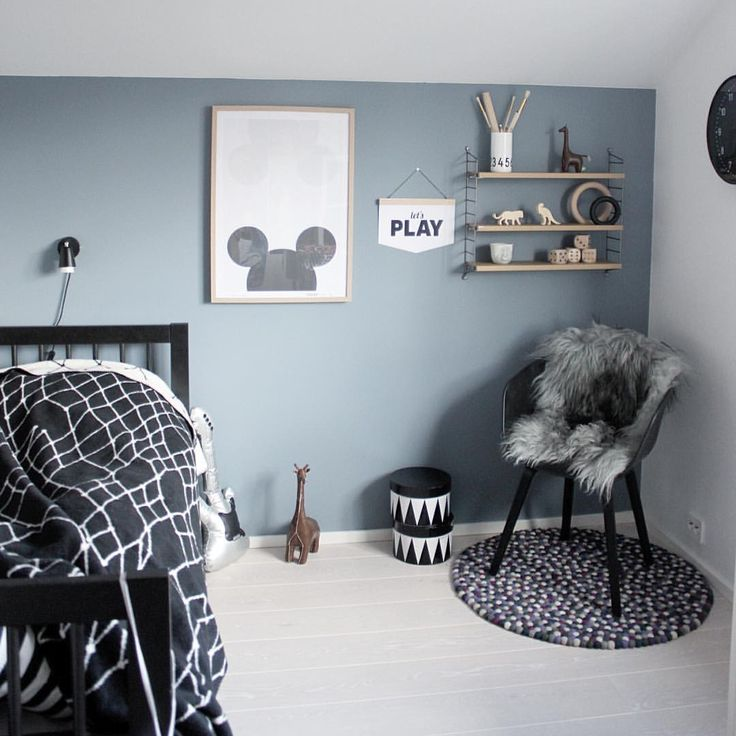 """Ingrid på Instagram: """"[ GLOWING PARIS ] Love the new """"dusty blue"""" colour in big brothers room- WHAT a change  #nordsjonorge #glowingparis"""""""
