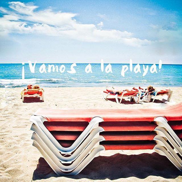 ... SAY YES!!! #sunday=funday #vamosalaplaya .  .  .  #beach #playa #summer #verano #barcelona