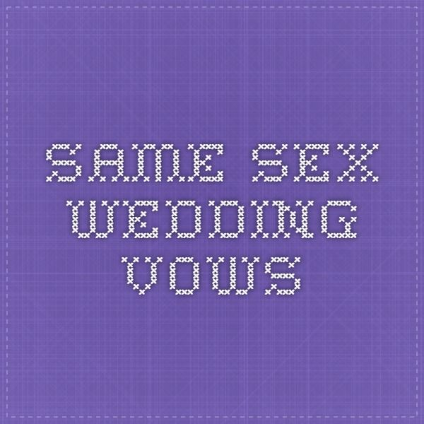 Same Sex Wedding Vows 83