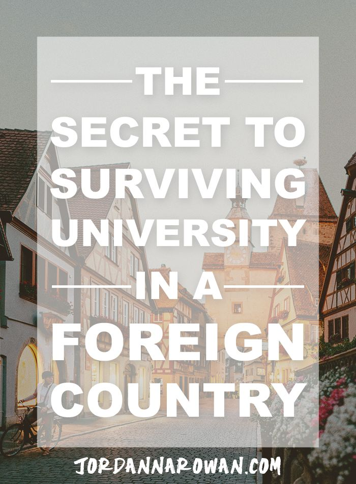 The Secret to Surviving University in a Foreign Country: a guest post from Ana Savuica. Are you considering moving to another country for school? Maybe you've already taken the plunge and are feeling the pressure of all the unknowns. Here are a few ways you can make your time away a little easier.