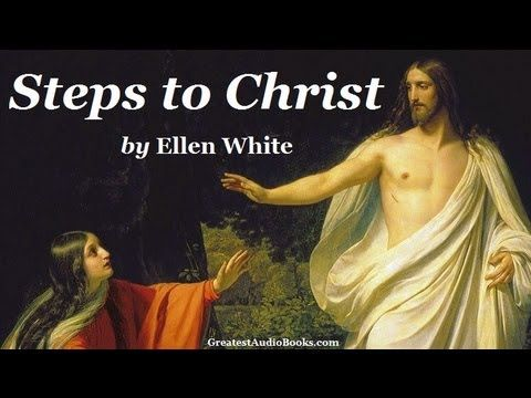 Steps to White by Ellen G. White. This pin links to an audiobook reading (3 hrs) (all 13 chapters) LibriVox Recording.