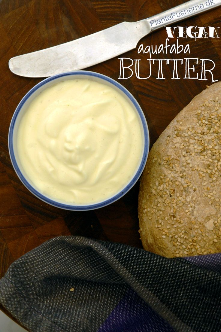 Vegan aquafaba butter