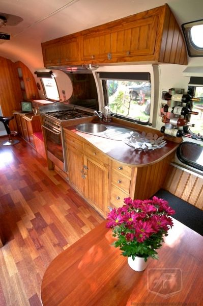 Airstream Interior. I love these floors, brings back memories of my last