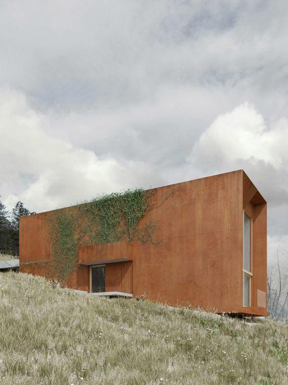 House on the hill in Chodziez, Poland/ by  architectural firm DE.MATERIA