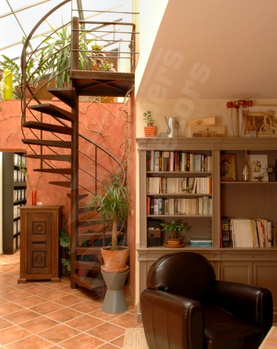 302 best images about un escalier pour votre mezzanine on for Interieur a la spirale