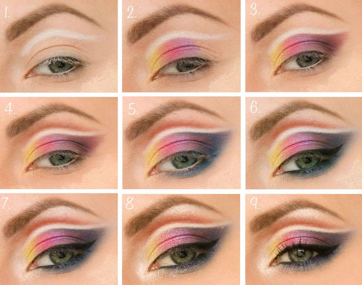 colorful-make-up-step-by-step tutorial