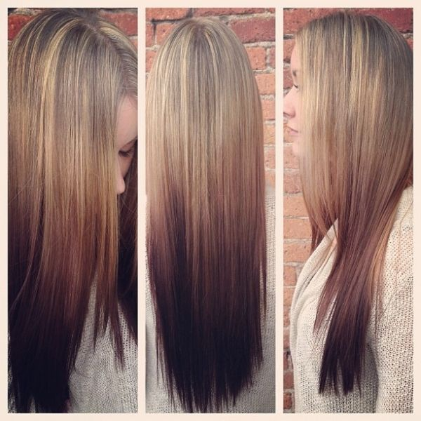A different take on ombre! Reverse! @Katie Hrubec Minalga #hair #ombre