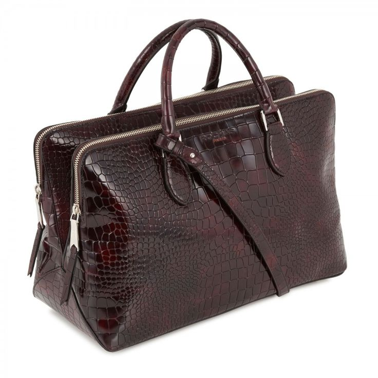 Reptile effect patent leather tote, Totes, Harvey Nichols Store View