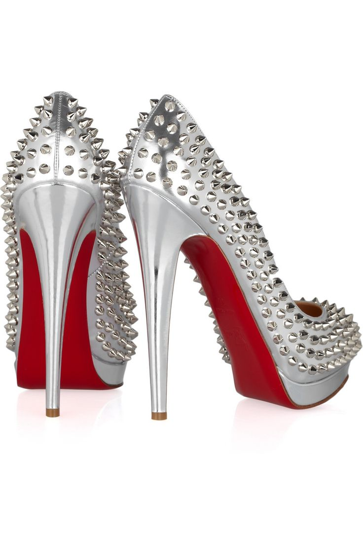 Alti 160sShoes, Leather Pump, 160 Spikes, Louboutin Alti, Louboutin Spikes, Spikes Metals, Christian Louboutin, Alti 160, Metals Leather