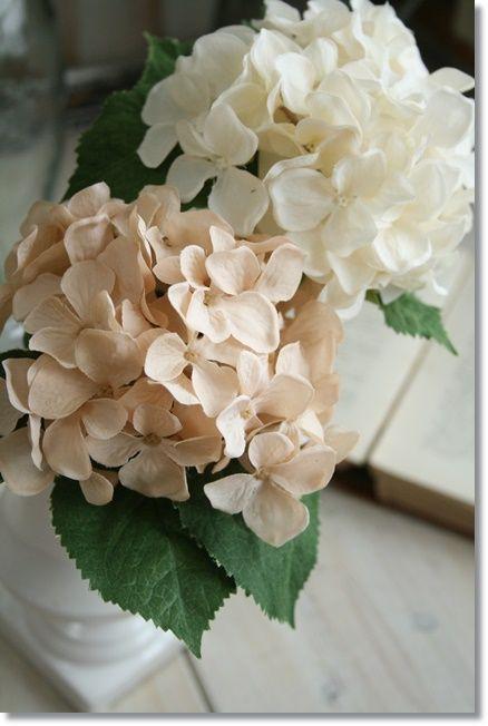 アジサイ 紫陽花 造花 エクリュ【定形外発送対応】