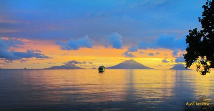 Sunset at Jailolo, West Halmahera, Indonesia
