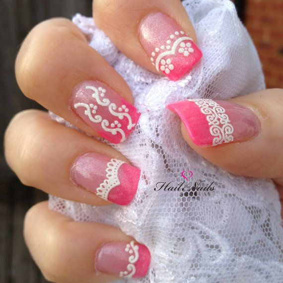 Hey, I found this really awesome Etsy listing at http://www.etsy.com/listing/130038455/lace-glitter-white-nail-art-stickers