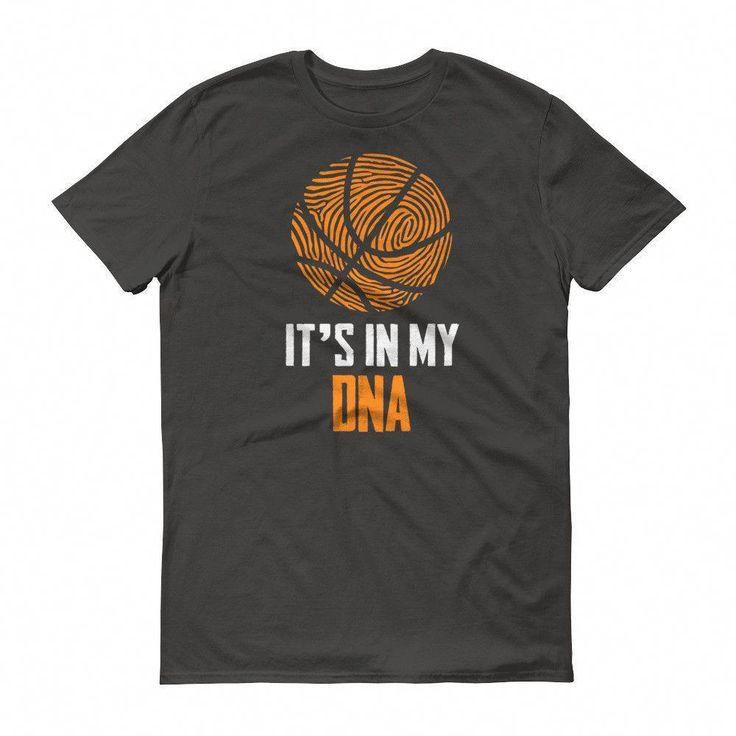 Kaufen Sie es ist in meinem DNA-Fingerabdruck-Basketball-lustigen T-Shirt bei BELDISEGNO für nur $ 24.00   – Vinyl Shirts