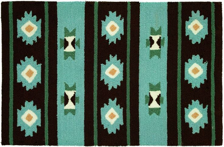 Contemporary Area Rug Black Color Homefires Navaho Blanket Collection.  I love this stuff.  Always a cowgirl at heart......<3