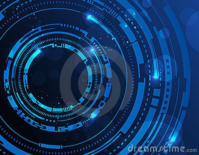 Abstract technology circles background