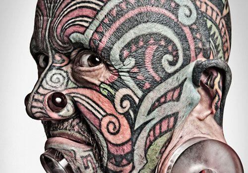scary-face ~ http://heledis.com/beautiful-face-tattoo-designs/