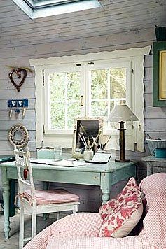 Shabby Chic OfficeOffice Spaces, Shabby Chic Offices, Offices Crafts, Crafts Spaces, Offices Spaces, Cottages, Romantic Shabby Chic, Home Offices, Fleas Marketing Style