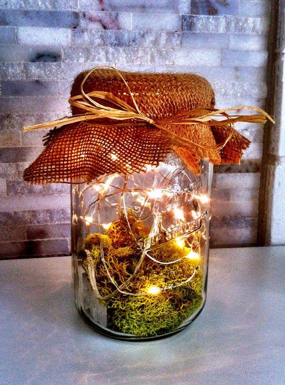 Vintage Mason Jar Firefly Lantern / Wedding by SoBarnShabby