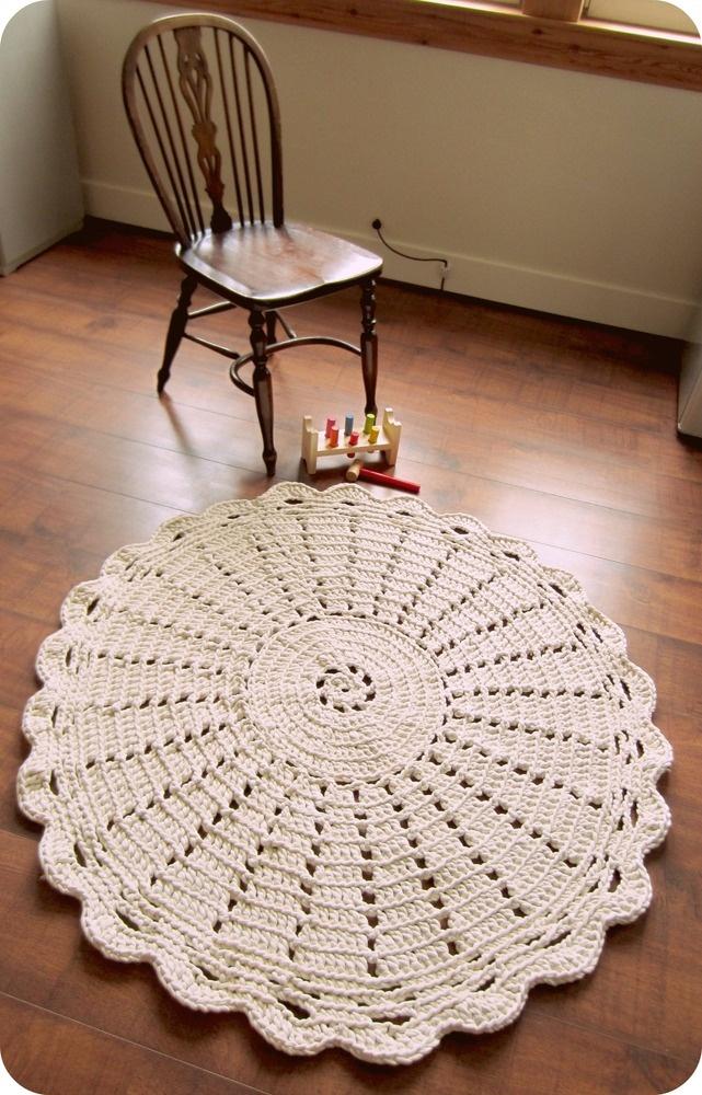 White Retro Scandinavian Style Large Chunky Cotton