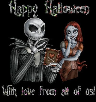 Happy Halloween with love from all of us gifs gif halloween halloween pictures happy halloween halloween images halloween quotes jack skellington