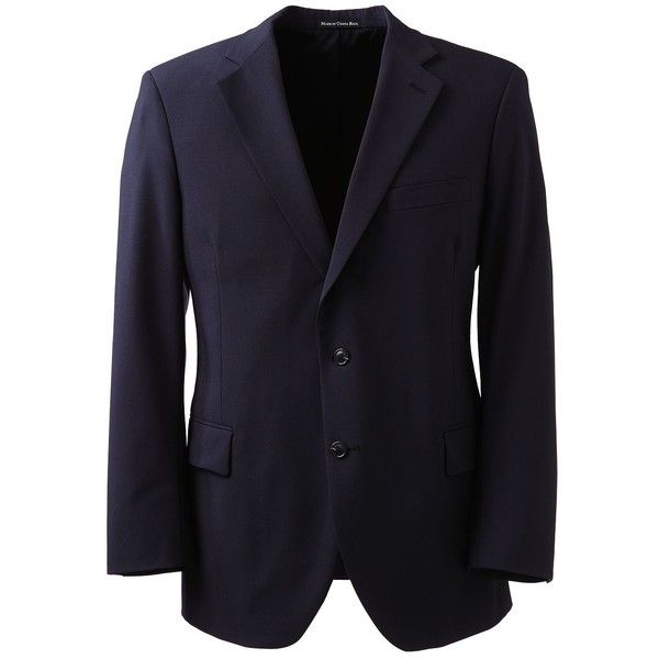 Lands' End Men's Big Dress Code Washable Wool Blend Suit Coat ($175) ❤ liked on Polyvore featuring men's fashion, men's clothing, men's outerwear, men's coats, blue, mens coats, mens blue blazer, men's wool blend coat, mens blazers and lands end mens coats