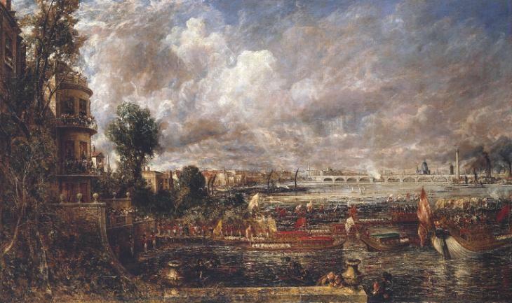 John Constable; L'apertura del ponte di Waterloo; 1832; olio su tela; Tate Britain, Londra.