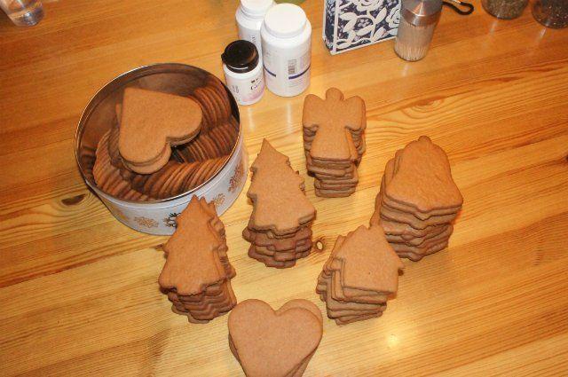 Скандинавское рождественское имбирное печенье со специями