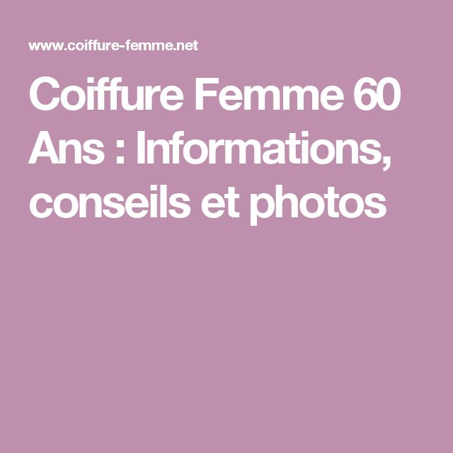 les 25 meilleures id es de la cat gorie coiffure femme 60 ans sur pinterest cheveux courts. Black Bedroom Furniture Sets. Home Design Ideas