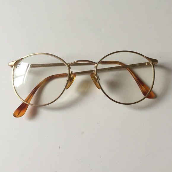 Giorgio Armani Accessories - Vintage Giorgio Armani Round eyeglasses gold
