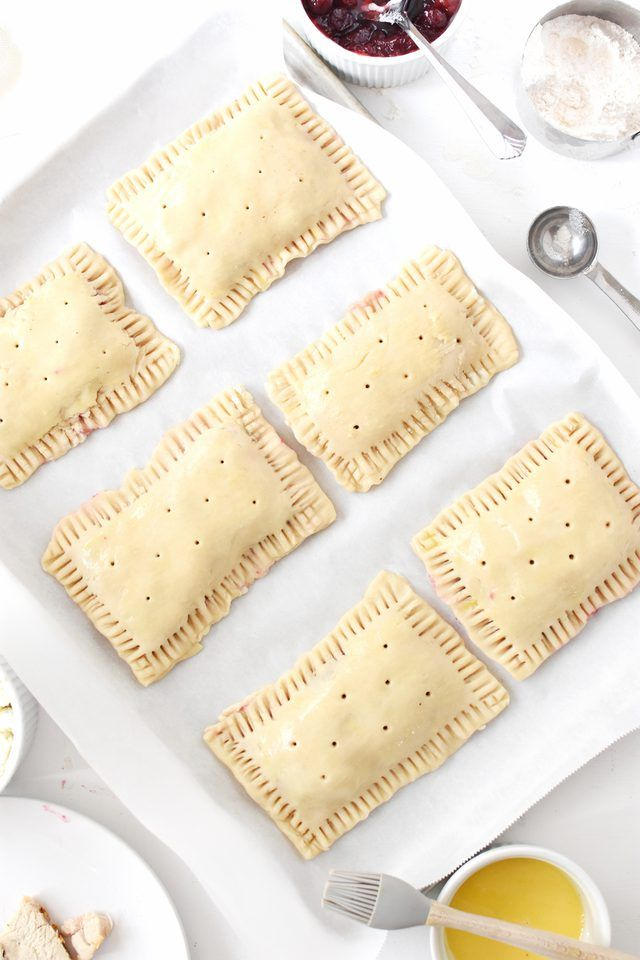 Get creative with your Thanksgiving leftovers, and make these savory Thanksgiving leftover pop tarts.