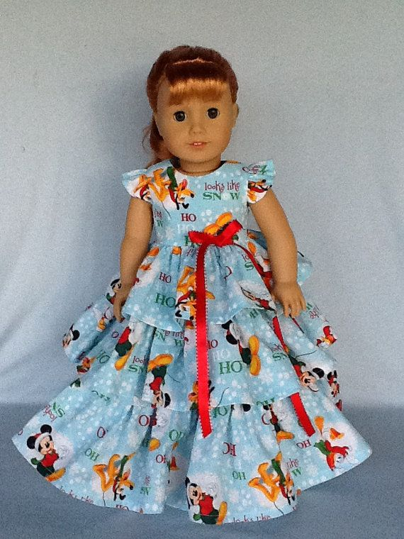 18 inch doll Christmas dress. Fits American Girl by ASewSewShop