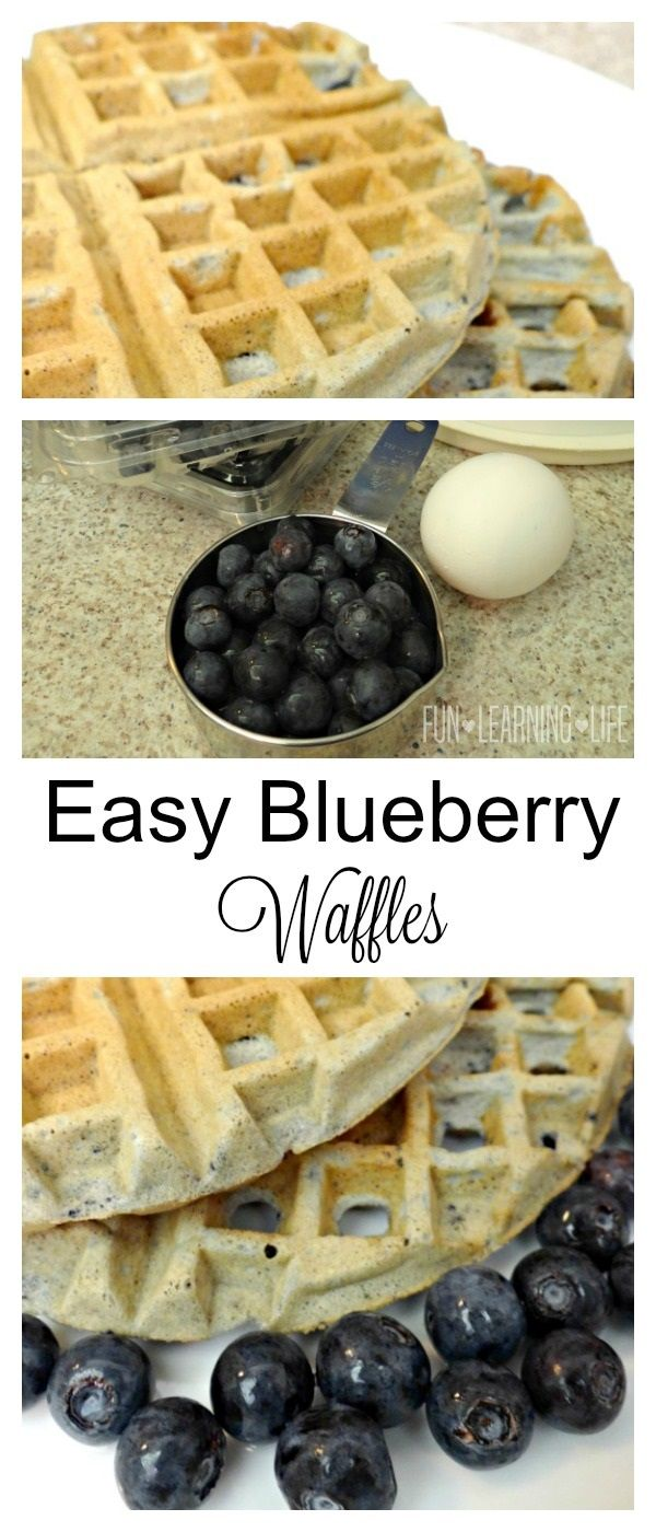 Easy Blueberry Waffles Recipe #Ad