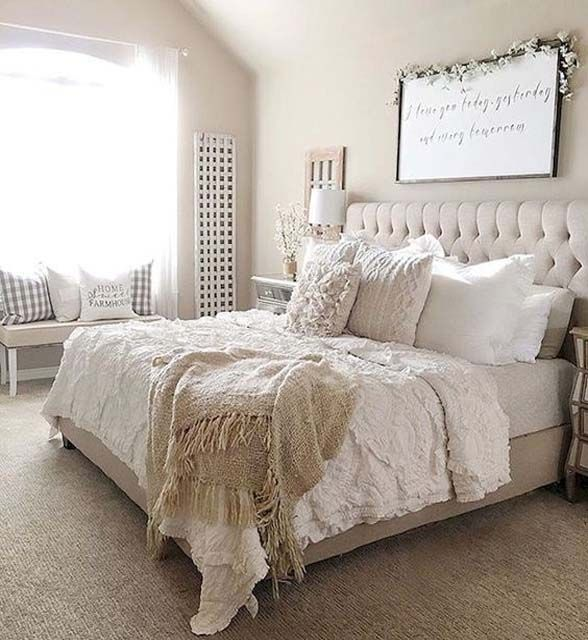 Urban farmhouse master bedroom ideas 2018