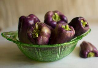 Stuffed Purple Bell Peppers