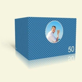 Einladungskarte zum Geburtstag - Blaue Punkte