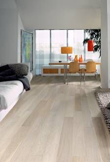 Who wouldn't want this white hardwood flooring?