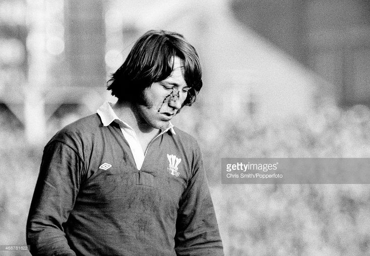 JPR Williams of Wales sustains an injury during the International rugby union match against Australia at Cardiff Arms Park on 20th December 1975. Wales won 28-3.