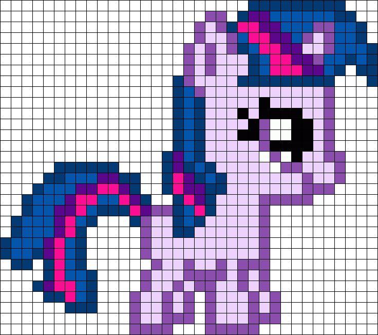 Filly Twilight My Little Pony Perler Bead Pattern / Bead Sprite
