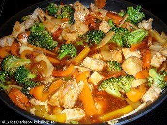Recept - Kyckling i sötsur sås