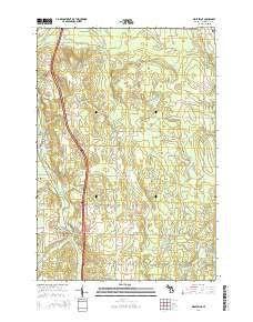 ~ Wolverine MI topo map, 1:24000 scale, 7.5 X 7.5 Minute, Historical, 2014