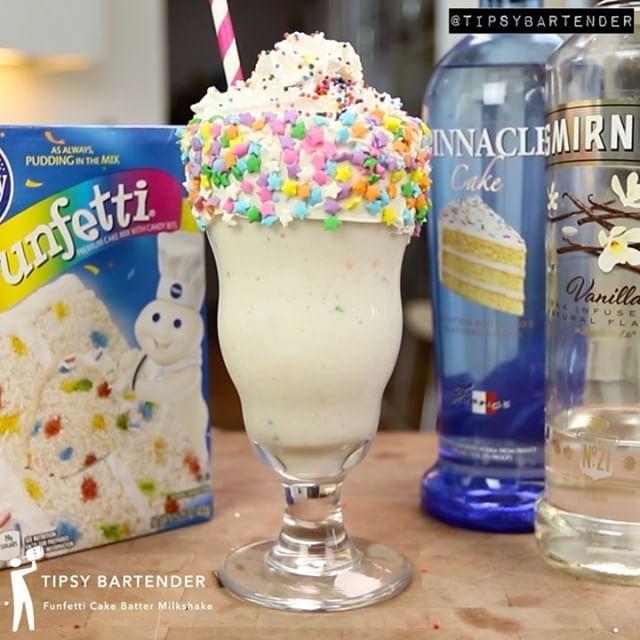 Funfetti Cake Batter Martini  #cake #vodka #drinks #cocktails #icecream