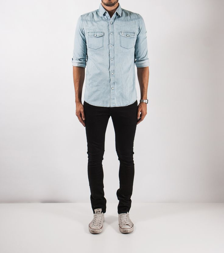 ZIGGY DENIM - Hicksville Shirt Blow Out Blue
