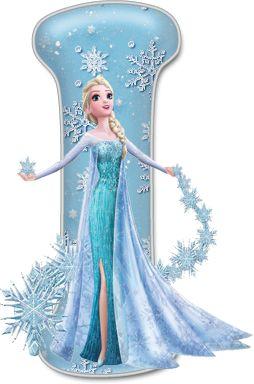 Alfabeto de Elsa con Vestido de Gala.                                                                                                                                                                                 Más