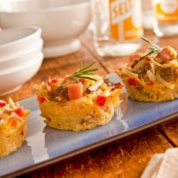 "Mini Hash Brown Casseroles"" recipe from Bob Evans' website. Sausage ..."