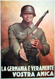 """La Germania e Veramente Vostra Amica""""  Gino Boccasile - 1944  28 inches x 39 inches"""""""