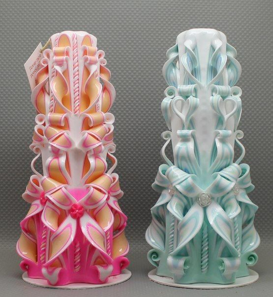 Beautiful candles Carved candles Сandles Gift by NeedHave