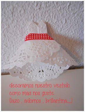 """Locura'scrap - Blog dedicado al scrapbooking y manualidades : Un vestido de blonda """" paso a paso tutorial """""""